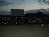 Terrace Drive-In parking lot just before the movie (07-01-2017)