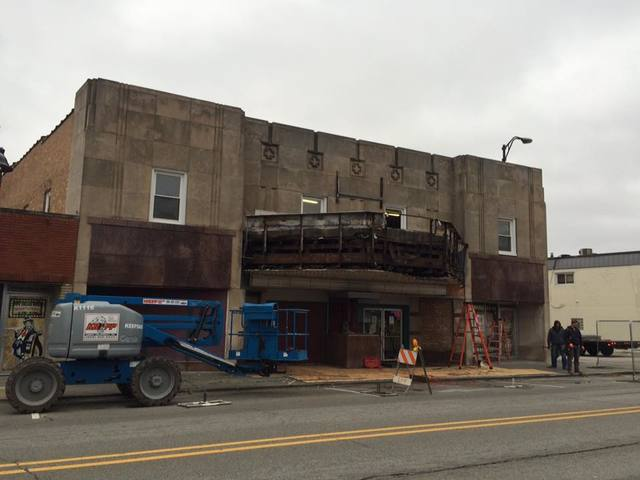 Demolition of old marquee