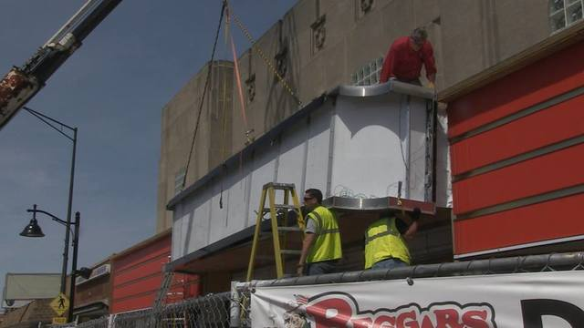 Installing New Facade