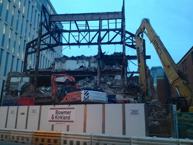 All the frontage now gone