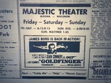 October 1965 Majestic ad for Goldfinger