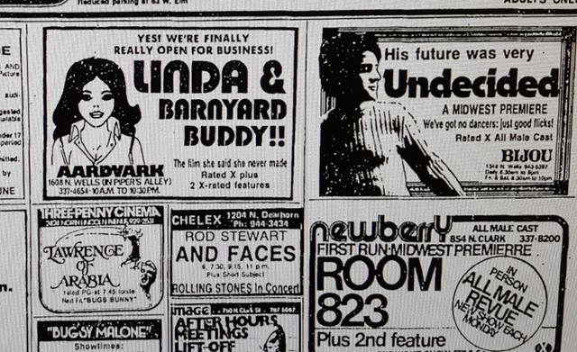 Aardvark movie ad from Chicago Tribune