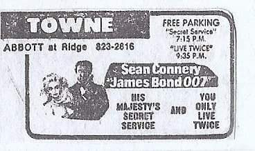 Newspaper ad from the Buffalo Evening News early 1970's.