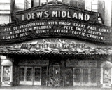 <p>1935 front of the Loew's Midland in Kansas City.</p>