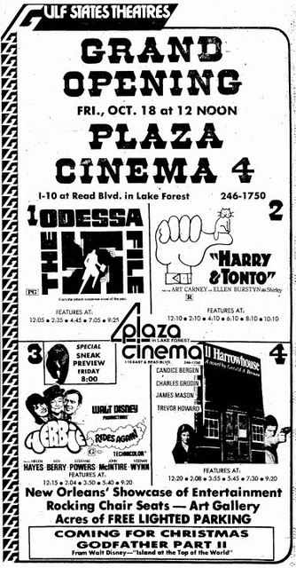 October 18th, 1974 grand opening ad