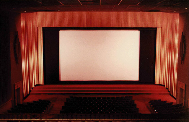 View of the screen from the North Hills Theater balcony ~1985