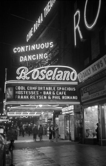 Cine Roma Theatre and Roseland Ballroom, NY -- 1938