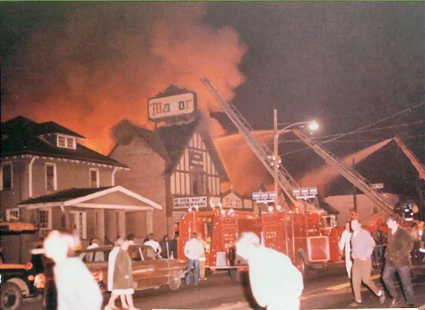 Manor Theater destroyed by fire May 1970