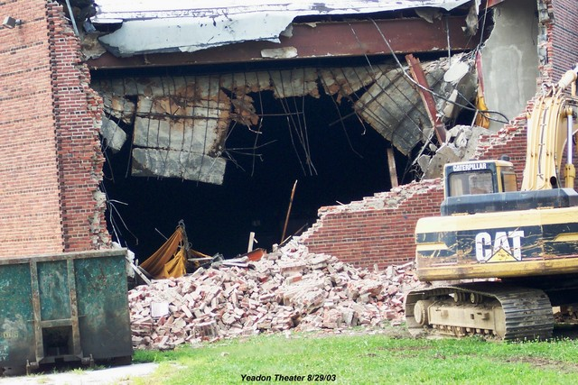 Demolition begins on Yeadon Theater