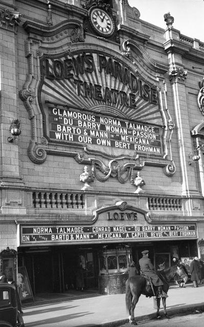 Loew's Paradise Theatre, Bronx, NY – 1930
