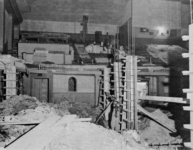 Theatre interior demolition