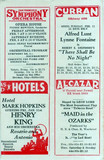 Official Amusement Guide for Local Events Jan 1941