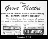 Grove Theatre advertisement September 2, 1948
