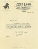 Letter sent with interior photo, 1928. Garrick Theatre