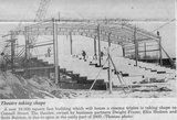 Newspaper image of construction of Atlantic Cinemas.