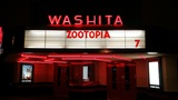 Washita Theatre Marquee at Night