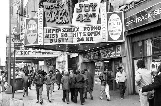 1971 photo at the Roxy Bulesk/Joy 42nd Street Theatre.