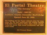 El Portal plaque
