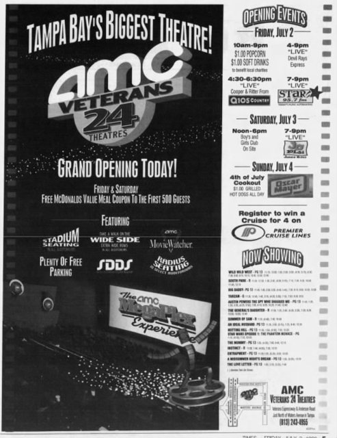 amc veterans 24 in tampa fl cinema treasures
