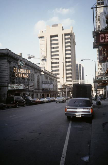 1987 photo as the Dearborn part of M&R Dearborn Cinemas, via The Man On Five website.