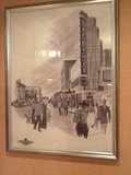 A water colour of the Lacey Street Theater painted during WW2 by a serviceman