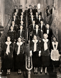Ushers on the main staircase