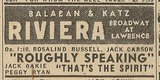 Newspaper ad from Aug. 15, 1945 Chicago Herald-American showing what was playing at the Riviera Theatre