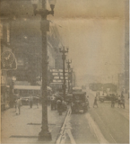 Photo from the Aug. 15, 1945 Chicago Herald-American newspaper showing the Roosevelt Theater marquee