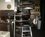 One of the former downstairs projection booths.
