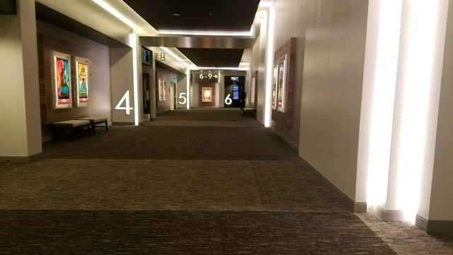 Hallway of new theater