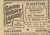 Newspaper ad from Aug. 15, 1945 Chicago Herald-American showing what was playing at the Blackstone Theatre