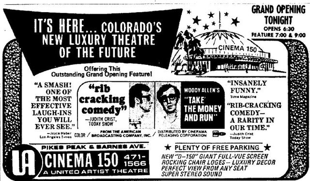 October 29th, 1969 grand opening ad