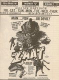 Newspaper ad showing what was playing at the Fox Drive-In