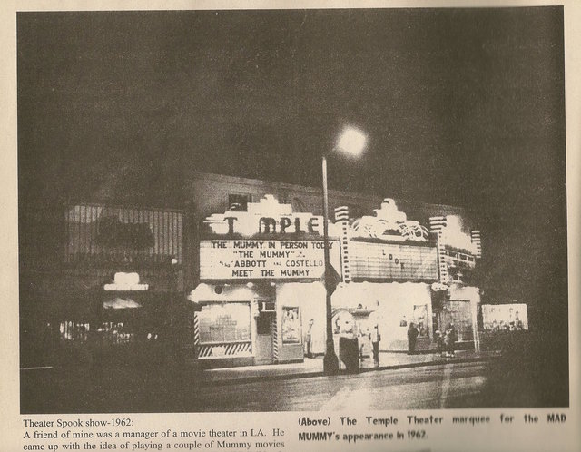 Photo of the Temple Theatre from 1962