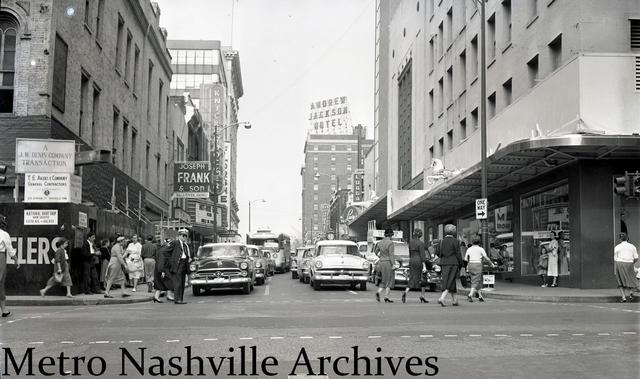 October 1956 photo and copy credit Metro Nashville Archives. Nashville Public Library.