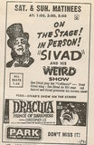 Newspaper ad showing what was playing at the Park Theatre Nov. 1971