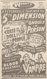 Newspaper ad from 1968 showing what was playing at Woody's Drive-In