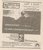Newspaper ad from 1968 showing what was playing at the 72 Drive-In