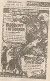 Newspaper ad from 1968 showing what was playing at the Parkway Drive-In Theatre