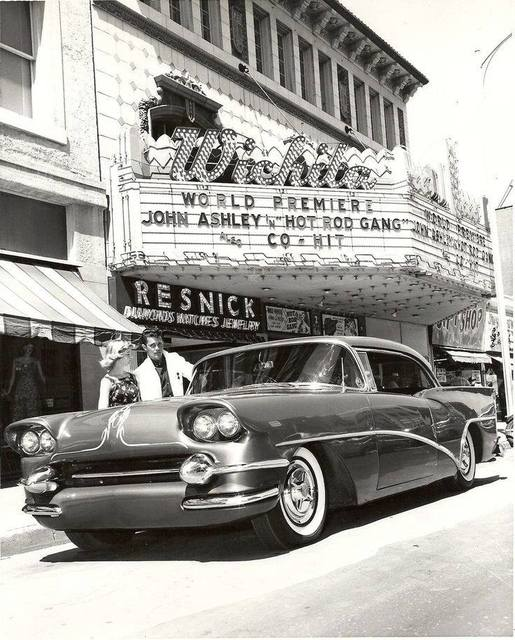 """Hot Rod Gang"" World Premiere, August 1958 photo via John Stutzer."