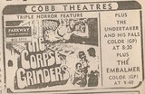 Newspaper ad from 1972 showing what was playing at the Parkway Drive-In Theatre