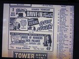 Newspaper ad from Dec. 1958 showing what was playing at the South #1 Drive-In