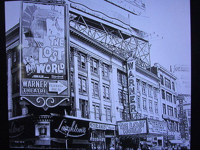 "World premiere of ""The Lost World"" at the Warner Theatre July 13, 1960"