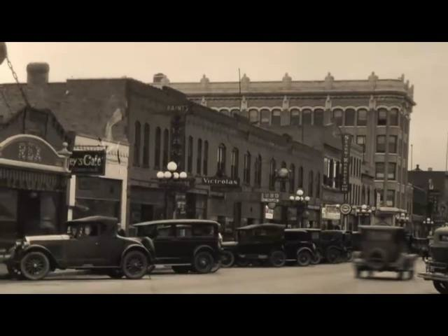 Rex Theatre on far left. Circa 1920's photo.