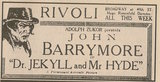 1920 Newspaper ad showing what was playing at the Rivoli Theatre
