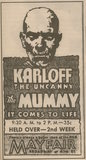 1932 newspaper ad showing what was playing at the RKO Mayfair