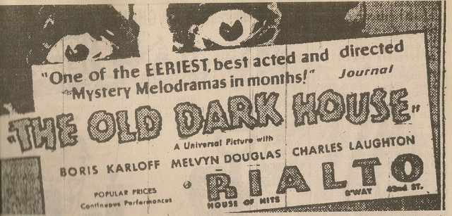 1932 newspaper ad showing what was playing at the Rialto Theatre
