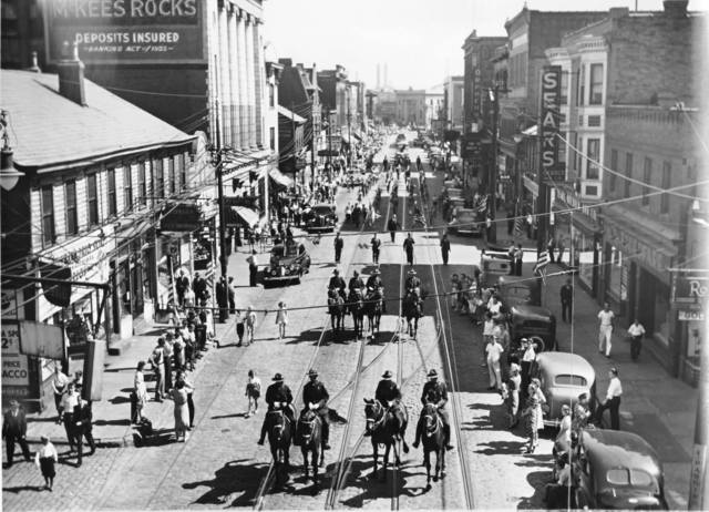 Circa 1940s photo credit McKees Rocks Historical Society Facebook page.