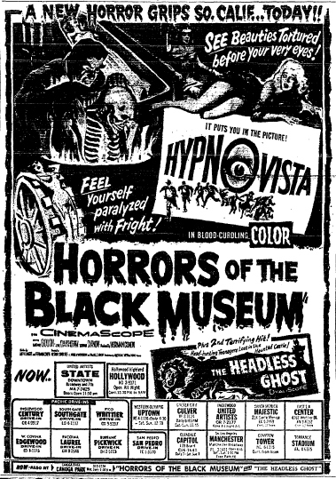 HORROR OF THE BLACK MUSEUM