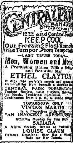 Air Conditioning Announced 6/21/1919 Chicago Tribune